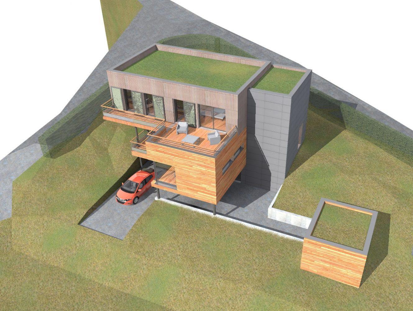 plan maison terrain en pente descendante ventana blog. Black Bedroom Furniture Sets. Home Design Ideas